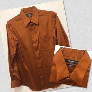 Murano Liquid Cotton Mens Long Sleeve Button Shirt